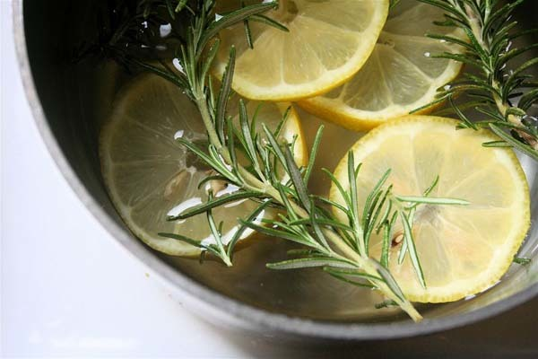 1.) Lemon-Rosemary Simmer Pot