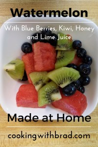 Watermelon, Blue berries, Kiwi
