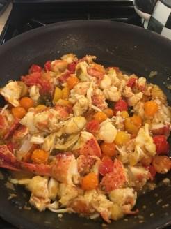 Lobsta Pasta in the Pan