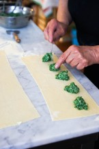 A spinach and ricotta filling for ravioli