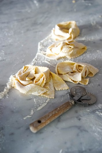 Nests of just-cut pappardelle