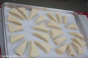 Separate and place on sheet pan to bake