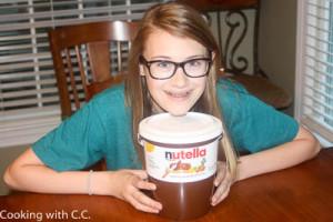 Our 6 pound tub of Nutella