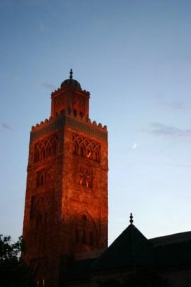 Morocco Pavilion at Night