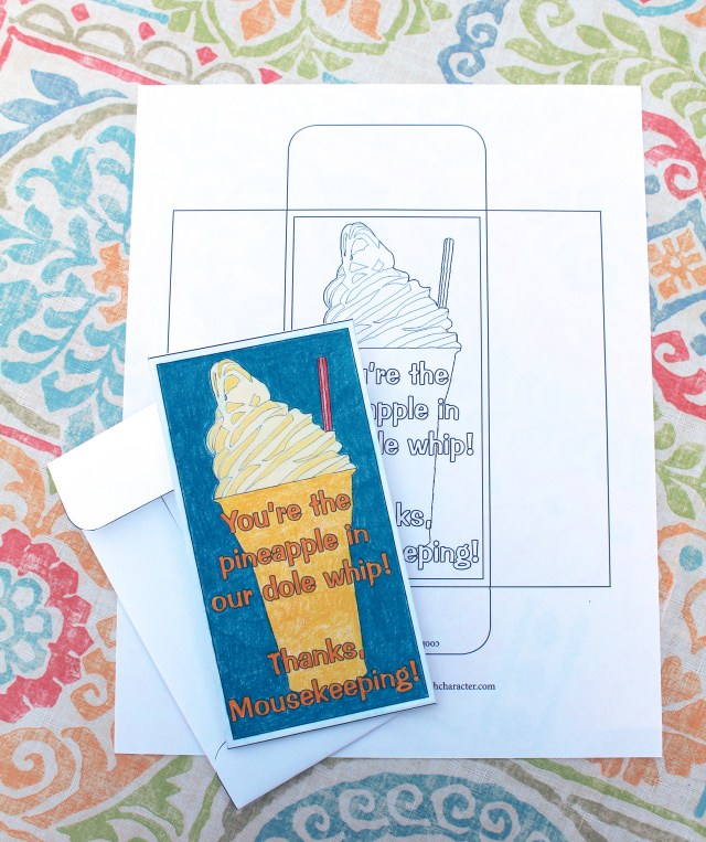 Mousekeeping Envelope Dole Whip