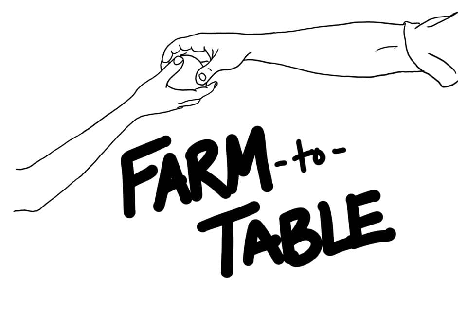 Farm to Table Drawn Picture