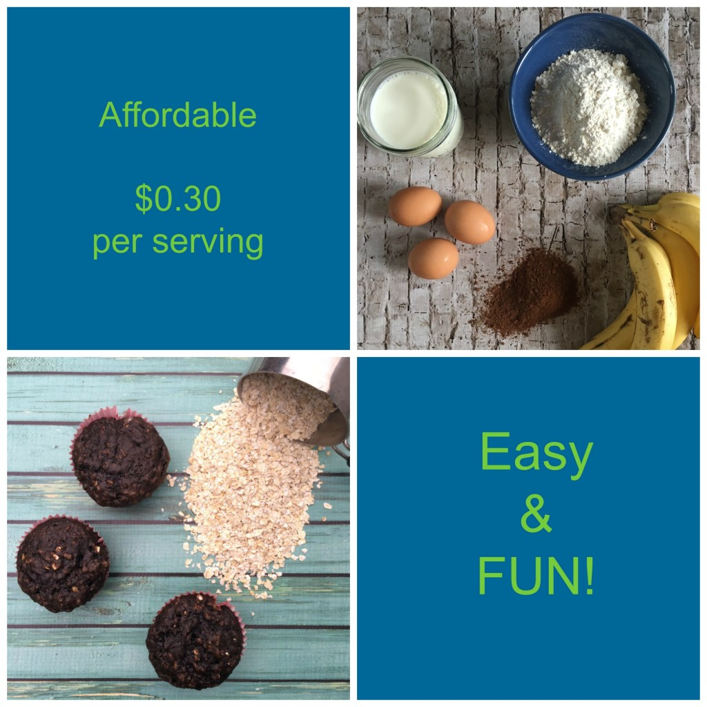 Healthy & Cheap Chocolate Banana Muffin Recipe