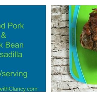 Pulled Pork & Black Bean Quesadilla
