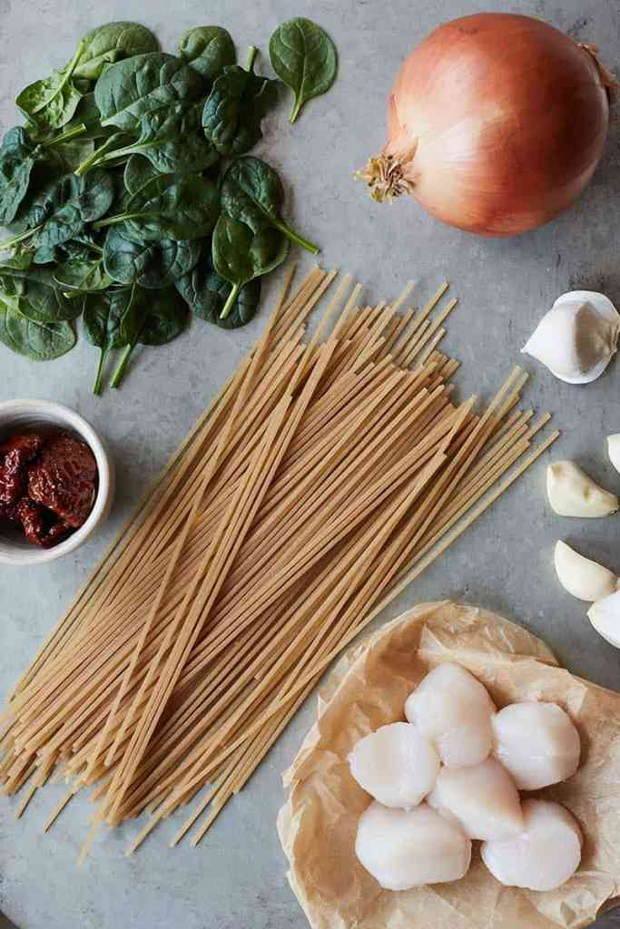 Tuscan Spaghetti with Scallops Ingredients