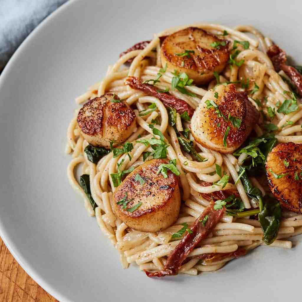 Tuscan Spaghetti with Scallops