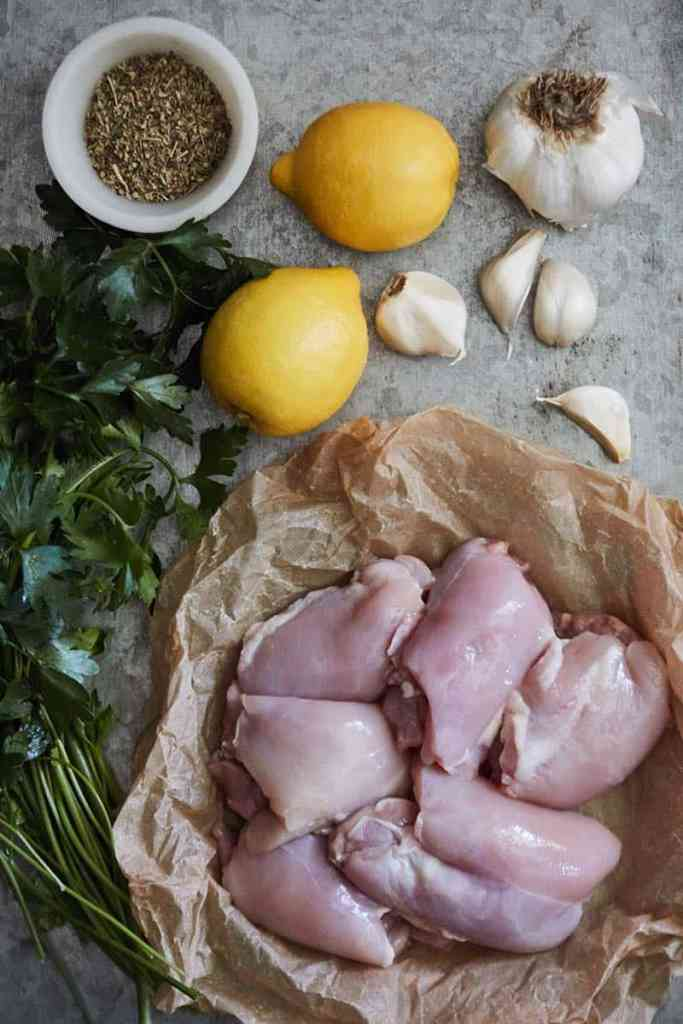 Instant Pot Lemon Garlic Chicken Ingredients