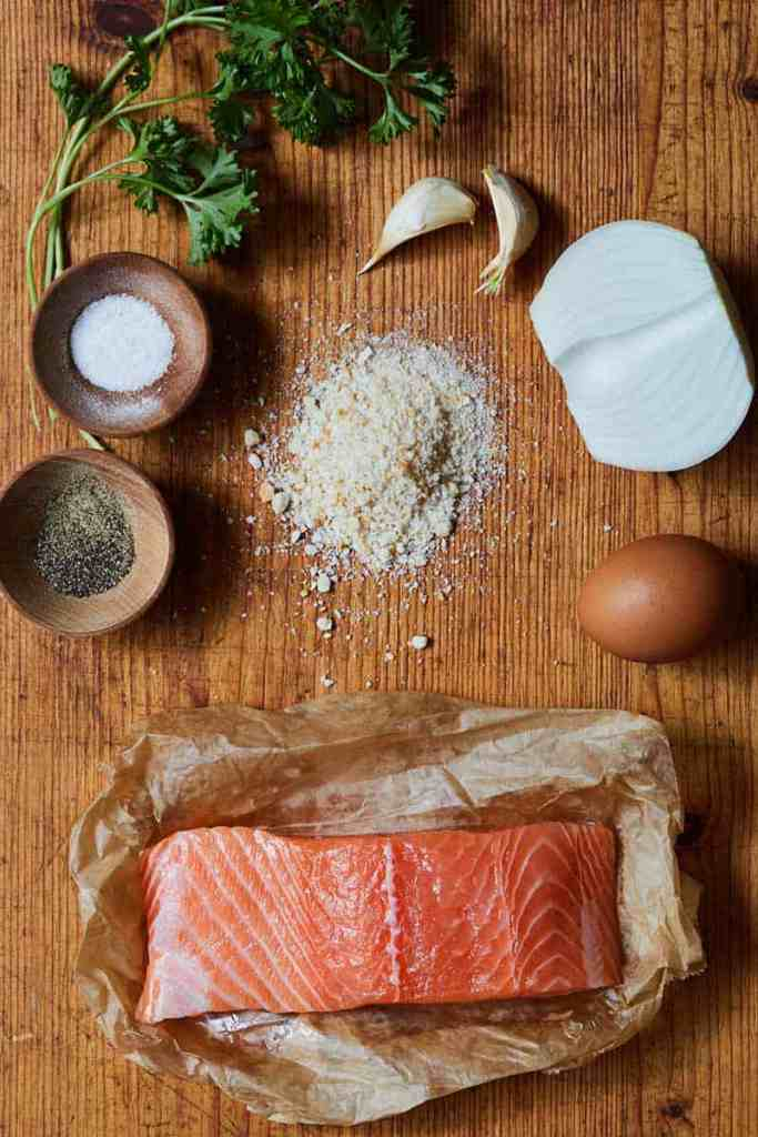 Healthy Salmon Cakes Ingredients