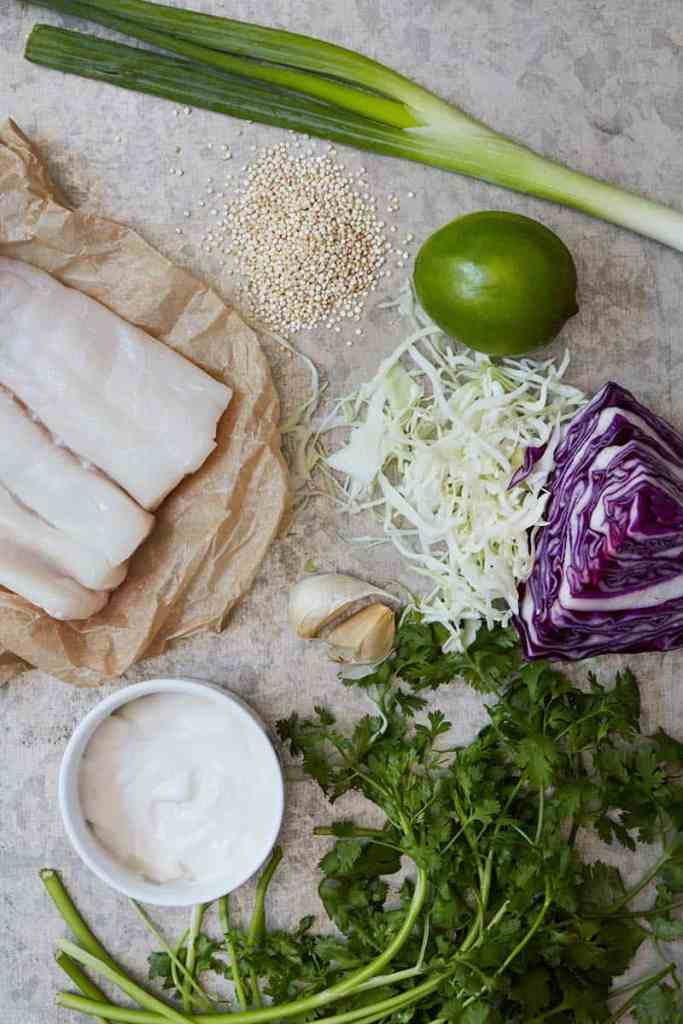 Fish Taco Bowl Ingredients