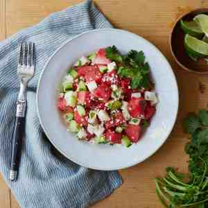 Mexican Style Watermelon Salad