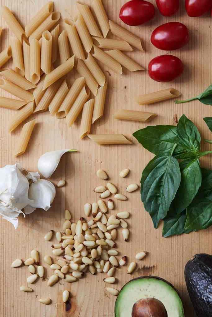 Avocado Pesto Pasta Ingredients