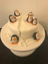 Penguin on an Iceberg Cake