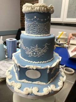 Traditional Royal Icing Wedding Cake