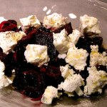 red beet salad with feta cheese