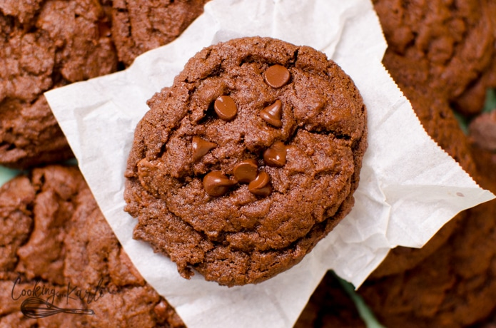 Chocolate cookies are a good dessert for a crowd.