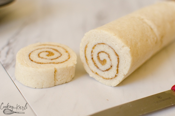 Pancake mix and milk are mixed together to create the cinnamon roll dough.