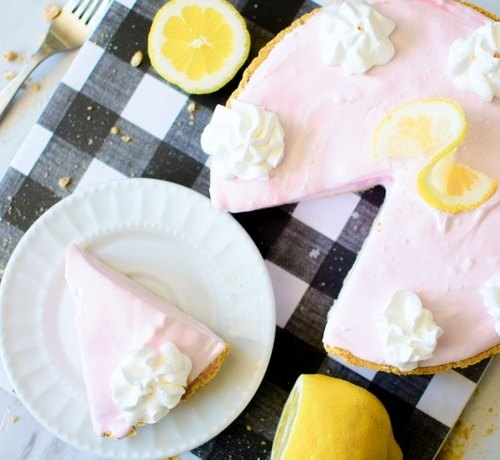 Pink lemonade pie is the perfect summer dessert.