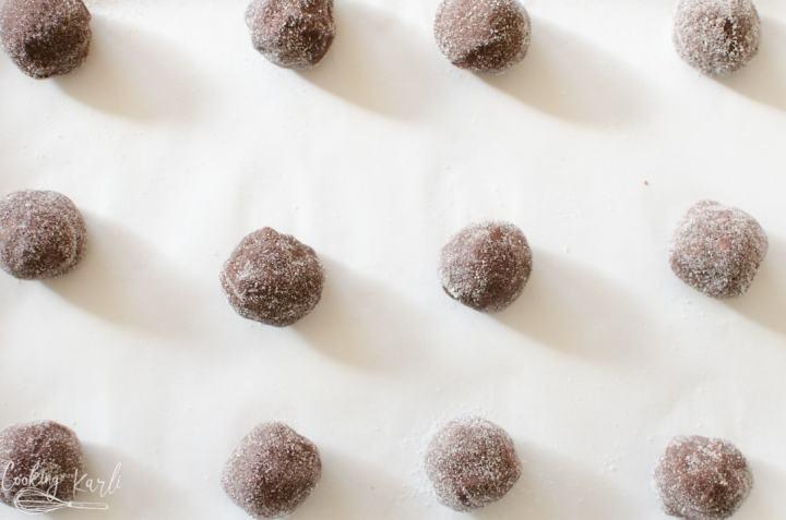 cookie dough balls before baking