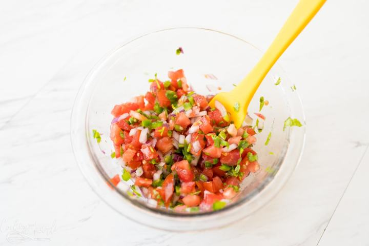 Pico de Gallo for the best Guacamole Recipe