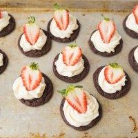 chocolate strawberry cheesecake cookies