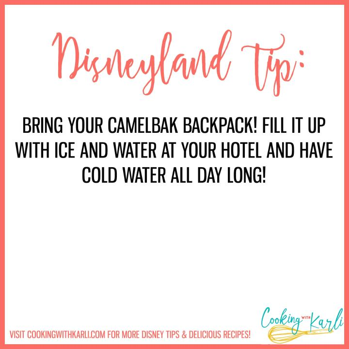 Disneyland tip about bringing camelbak to Disneyland