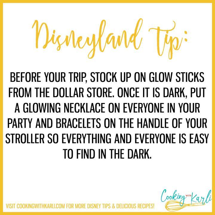 Disneyland tip about glowsticks