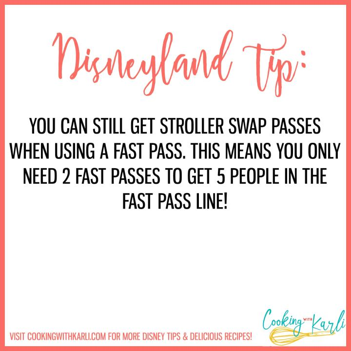 Disneyland tip about fast passes and stroller swap passes