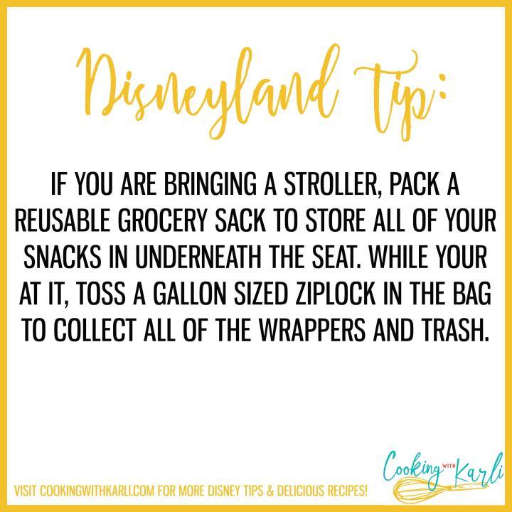 Disneyland tip about snacks