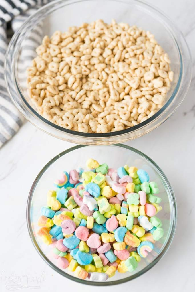 Cereal separated from the marshmallows