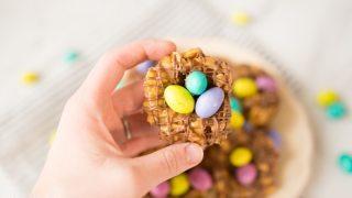 Peanut Butter Bird's Nest Cookies