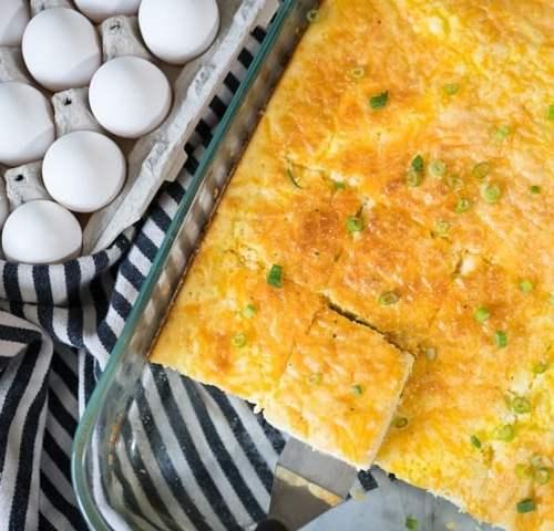Breakfast Egg Casserole without meat