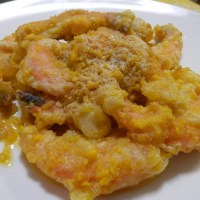 Salted egg fried shrimps
