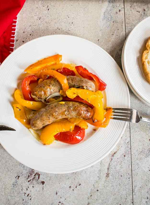 simple dinner ideas, Roast these Easy Sausage and Peppers