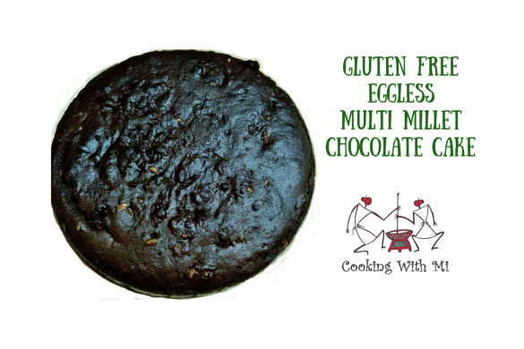 Gluten free Eggless Multi millet Chocolate cake