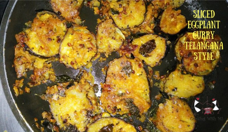 Sliced Eggplant Curry Telangana style #eggplant #healthy #homemade #vegetarian