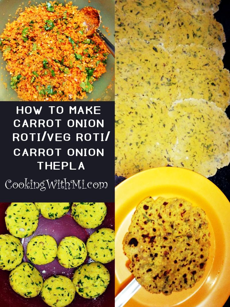 Carrot onion roti carrot onion thepla veg roti #lunch #breakfast #vegetarian #dinner