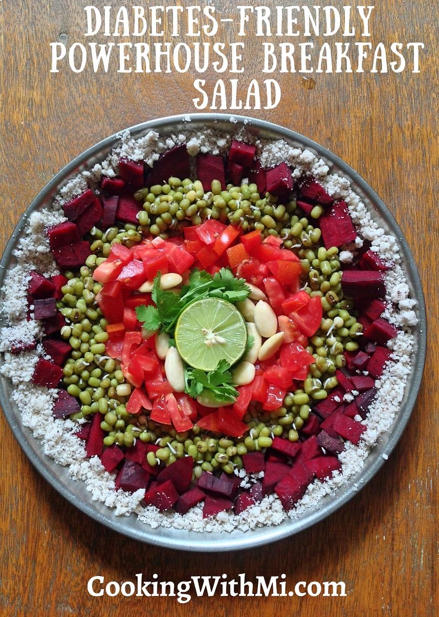 How to make powerhouse diabetes-friendly breakfast salad