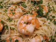 easy shrimp scampi with angel hair