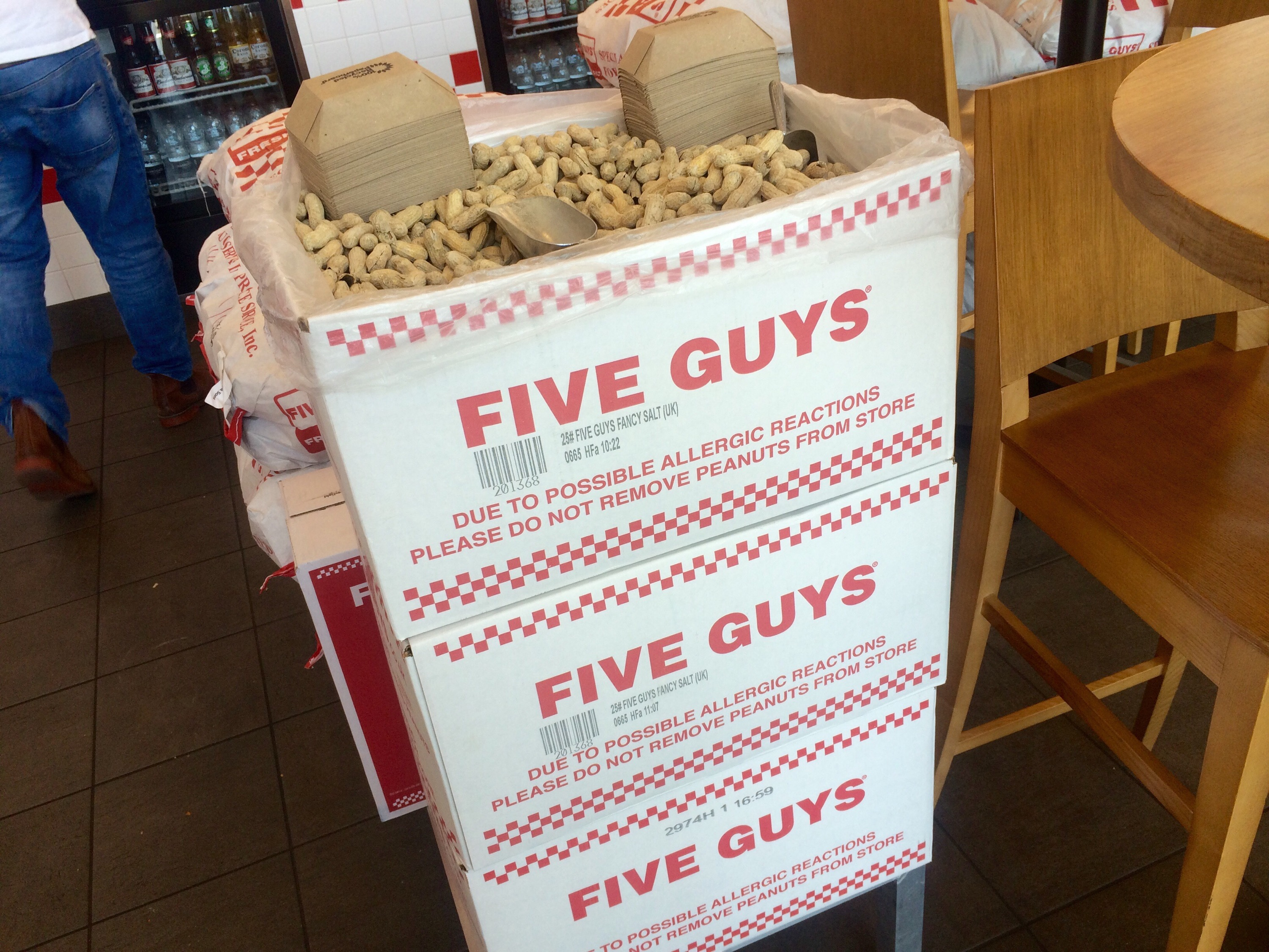 five guys with my