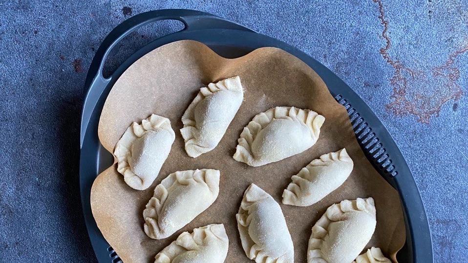homemade gyoza dumplings