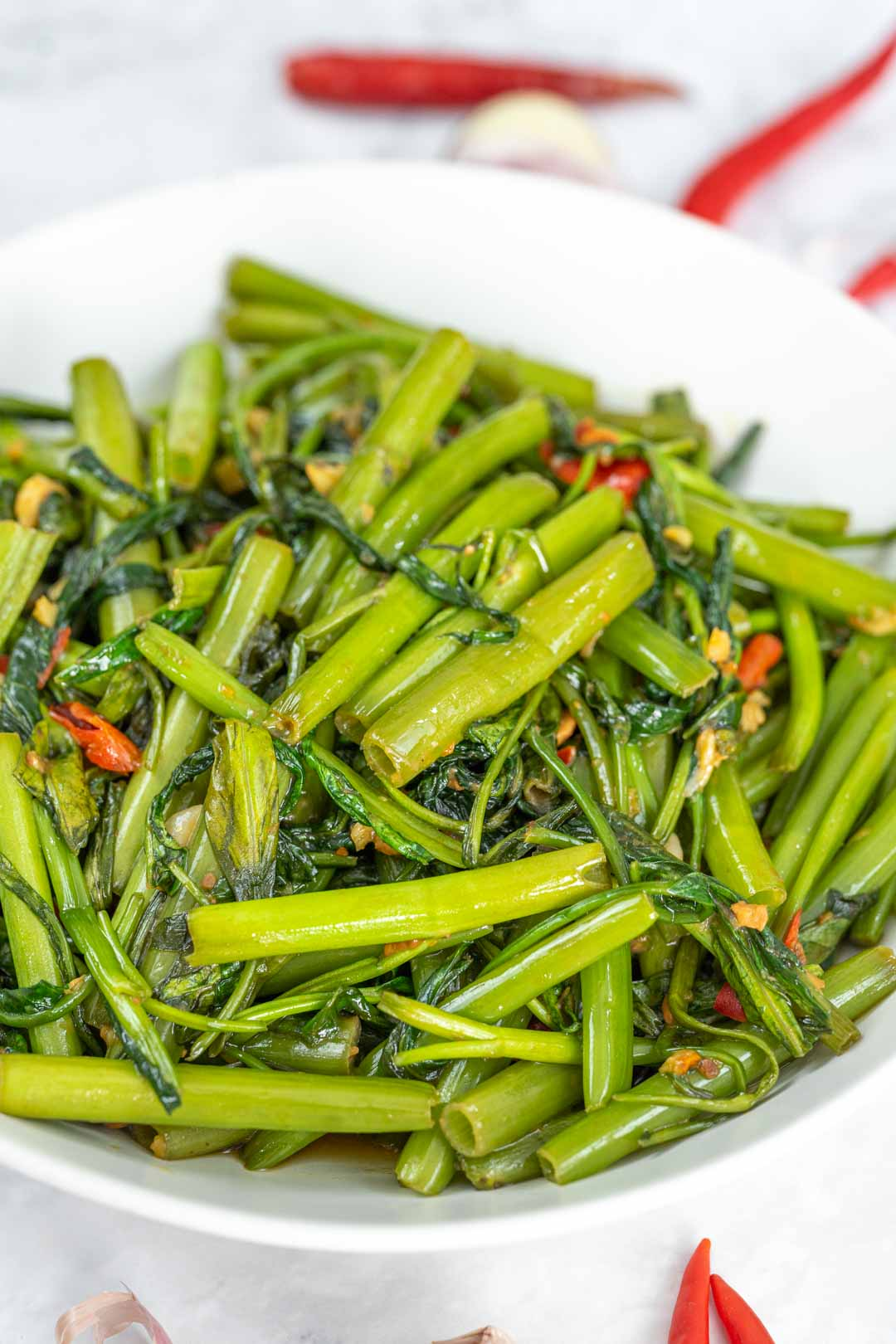 Morning Glory Vegetable : morning, glory, vegetable, Stir-Fried, Water, Spinach, Recipe, Cooking