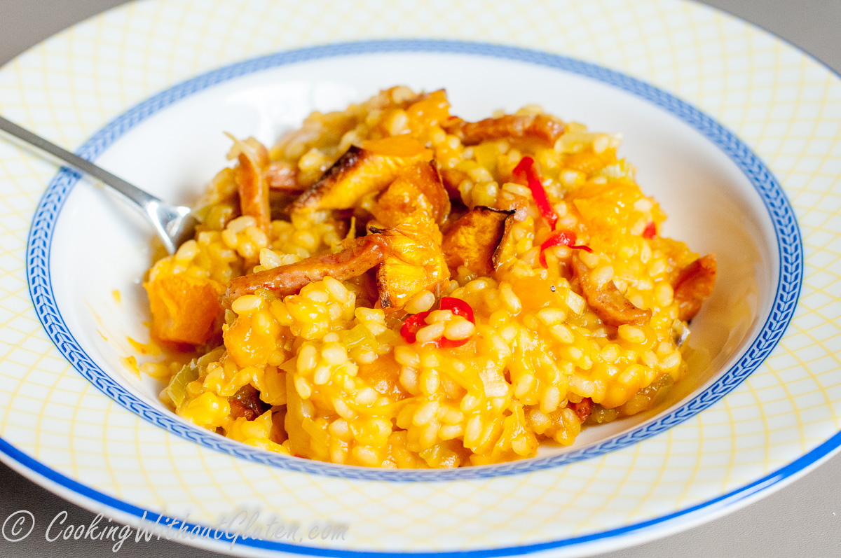 Organic Pumpkin Risotto with Options