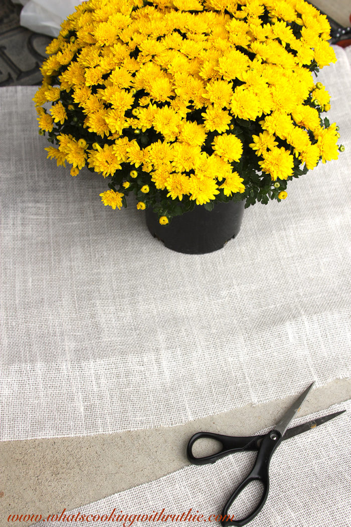 DIY Fall Flower Pots  Cooking With Ruthie