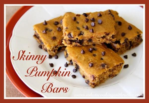 Skinny Pumpkin Bars