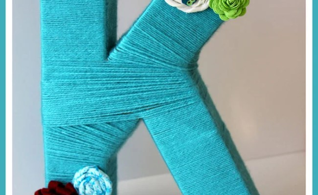 Yarn Letters Gift Idea Cooking With Ruthie