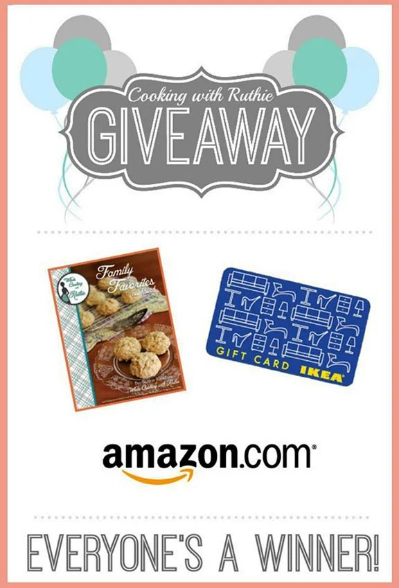 Everyones a Winner Birthday Giveaway! Come get a FREE e-cookbook plus enter to win $300 to IKEA or $100 Amazon gift card!